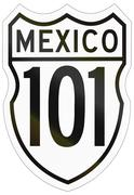 Route shield of the Mexican Federal Highway Stock Illustration