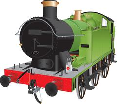 Green Tank Engine - stock illustration