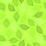 Stock Illustration of vector seamless pattern of psychedelic shapes in the form of leaves