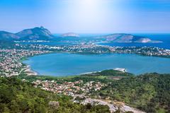 Aerial View of Regiao Oceanica in Niteroi, Rio de Janeiro, Brazil Kuvituskuvat