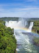 Iguazu Falls, on the Border of Brazil and Argentina - stock photo