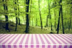 Composite image of pink and white tablecloth Stock Illustration