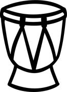 Conga drum icon - stock illustration