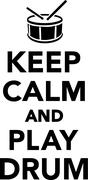 Stock Illustration of Keep calm and play drum