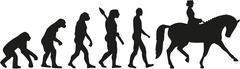 Dressage rider evolution - stock illustration