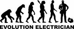 Electrician Evolution Stock Illustration