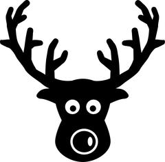 Elk comic head Stock Illustration