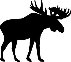 Moose silhouette - stock illustration