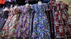 Large Selection of Women's Dresses in Store - stock footage