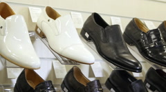 Men's Classic Shoes - stock footage