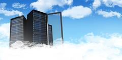 Composite image of server tower - stock illustration