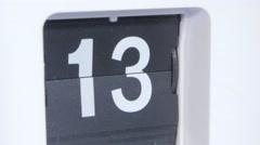 Flip clock. Close up Stock Footage