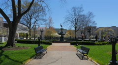 Fountain Square in Bowling Green in Spring Time Stock Footage