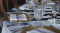Nautical Wedding Reception Table - stock footage