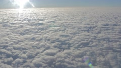 Flying Airplane Window Clouds V-LOG Stock Footage