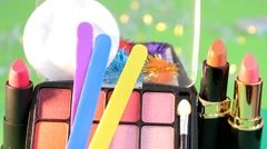 02 - Cosmetics - Beauty color makeup - 01 Stock Footage