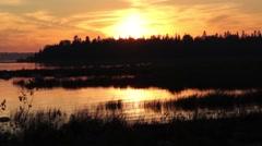 Sunset on Lake Huron coast Stock Footage