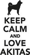 Keep calm and love akitas Stock Illustration