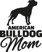 American Bulldog Mom - stock illustration