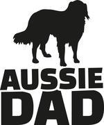 Australian Shepherd dad - stock illustration