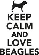 Stock Illustration of Keep calm and love Beagles