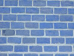 blue bricks background - stock photo