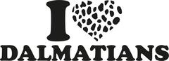 I love Dalmatian with spotted heart - stock illustration