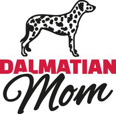 Dalmatian Mom with dog silhouette Stock Illustration