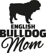English bulldog Mom - stock illustration