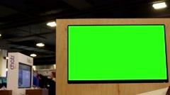 Display green screen tv inside Best buy store - stock footage