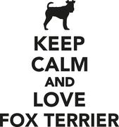 Keep calm and love Fox Terrier Stock Illustration