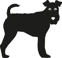 Fox Terrier silhouette Stock Illustration