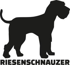 Giant Schnauzer with german breed name Stock Illustration