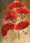 Poppies handmade painting Stock Illustration