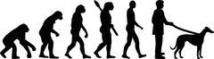 Greyhound evolution - stock illustration