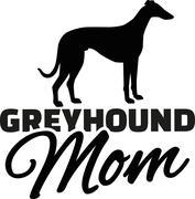 Greyhound Mom - stock illustration