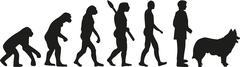 Herding evolution - stock illustration