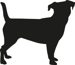 Jack Russell Terrier silhouette Stock Illustration