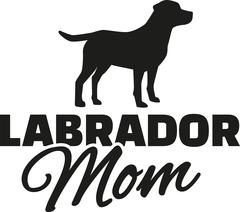 Labrador Retriever Mom - stock illustration