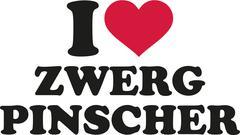 I love miniature pinscher german - stock illustration