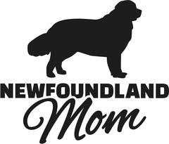 Newfoundland Mom - stock illustration
