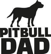 Pit bull dad - stock illustration