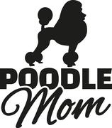 Poodle Mom Stock Illustration