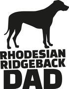 Rhodesian ridgeback dad Stock Illustration