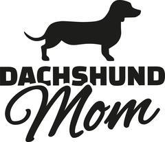 Dachshund Mom - stock illustration