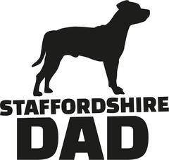Staffordshire Bull Terrier dad Stock Illustration