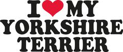 I love my yorkshire terrier - stock illustration