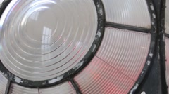 A lighthouse lens Stock Footage