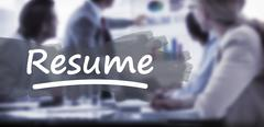 Composite image of word resume underlined Stock Photos