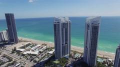 Aerial Sunny Isles Miami, Florida Arkistovideo